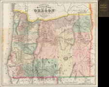 Oregon Map By J.K. Gill & Co.