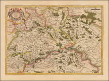 Germany, Poland and Czech Republic & Slovakia Map By  Gerard Mercator