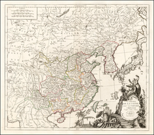 China and Korea Map By Paolo Santini