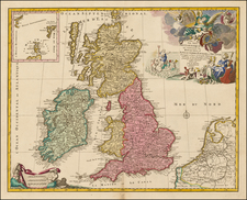 British Isles Map By Jan Barend Elwe
