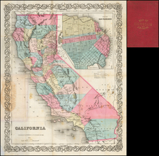 California Map By Joseph Hutchins Colton