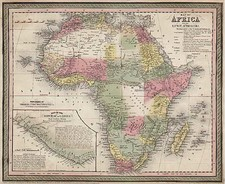Africa and Africa Map By Thomas, Cowperthwait & Co.  &  Co.