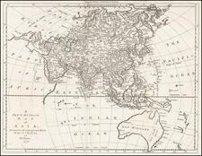 Asia, Asia, Korea and Australia Map By Thomas Bowen