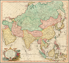 Asia, Asia and Korea Map By Thomas Conder