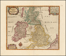 British Isles Map By Philipp Clüver