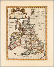British Isles Map By Philip Briet