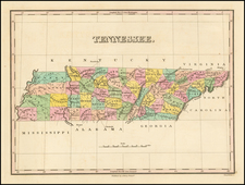 South and Tennessee Map By Anthony Finley
