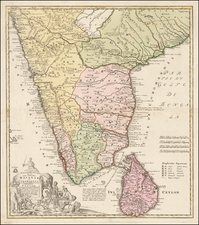 India & Sri Lanka Map By Homann Heirs
