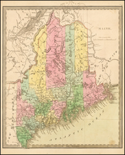 New England and Maine Map By Jeremiah Greenleaf