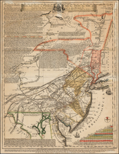 Mid-Atlantic and Pennsylvania Map By Lewis Evans