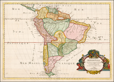 South America Map By Guillaume Sanson