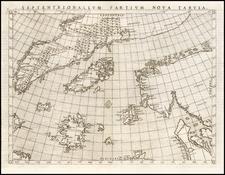 Polar Maps, Atlantic Ocean and Scandinavia Map By Girolamo Ruscelli