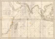 Indian Ocean, India & Sri Lanka, Southeast Asia, East Africa, African Islands, including Madagascar and Australia Map By Jean-Baptiste-Nicolas-Denis d'Après de Mannevillette