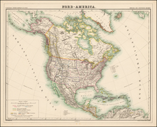 North America Map By Dietrich Reimer  &  Heinrich Kiepert