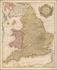 England Map By Paul de Rapin de Thoyras