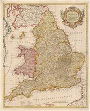 England Map By Paul de Rapin de Thoyras