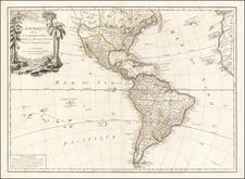 South America and America Map By Paolo Santini