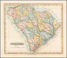 Southeast and South Carolina Map By Fielding Lucas Jr.