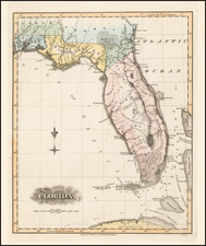 Florida Map By Fielding Lucas Jr.
