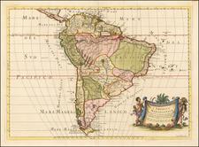 L'America Meridionale Nuovamente corretta et accresciuta . . . 1677 By Giacomo Giovanni Rossi