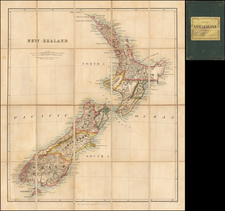 New Zealand Map By Edward Stanford