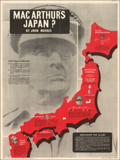 World, World, British Isles, Japan and World War II Map By Bureau of Current Affairs