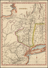 New York State and Mid-Atlantic Map By Gentleman's Magazine