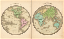 Western Hemisphere, South America and America Map By Jeremiah Greenleaf