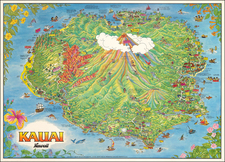 Hawaii, Hawaii and Pictorial Maps Map By James Olson