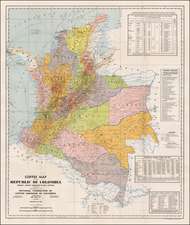 South America Map By National Federation of Coffee Growers of Colombia