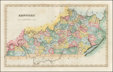 South and Kentucky Map By Fielding Lucas Jr.