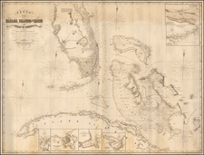 Florida and Caribbean Map By James Imray & Son