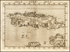 Caribbean and Cuba Map By Girolamo Ruscelli