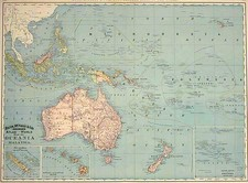 Asia, Southeast Asia, Australia & Oceania and Oceania Map By William Rand  &  Andrew McNally