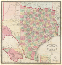 Texas Map By Charles Pressler