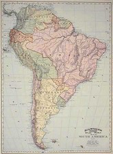 South America Map By William Rand  &  Andrew McNally