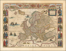Europe and Europe Map By Willem Janszoon Blaeu