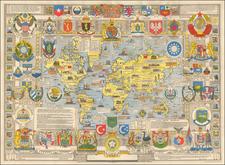 World and World Map By John Bartholomew
