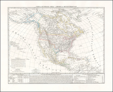 North America Map By Benedetto Marzolla