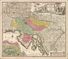 Austria and Balkans Map By Matthaus Seutter
