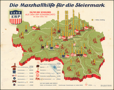 Austria Map By Artaria & Co. / Freytag & Berndt