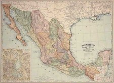 Mexico and Baja California Map By William Rand  &  Andrew McNally