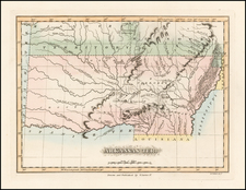South, Arkansas, Plains and Oklahoma & Indian Territory Map By Fielding Lucas Jr.