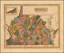 Southeast and Virginia Map By Fielding Lucas Jr.