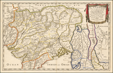 India Map By Nicolas Sanson