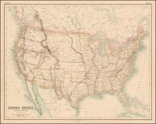 United States Map By Archibald Fullarton & Co.