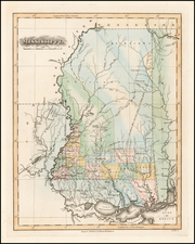 South and Mississippi Map By Fielding Lucas Jr.