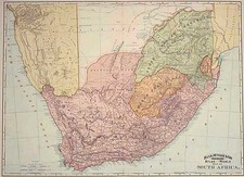 Africa and South Africa Map By William Rand  &  Andrew McNally
