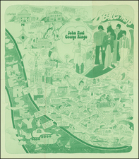 British Isles, England, Curiosities and Pictorial Maps Map By City of Liverpool Public Relations Office