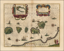 Indonesia and Other Islands Map By Willem Janszoon Blaeu